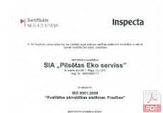 ISO 9001:2008 Kvalitātes pārvaldības sistēmas