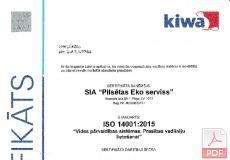 ISO 14001:2015 Vides pārvaldības sistēmas