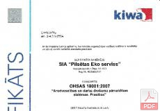 OHSAS 18001:2007 Arodveselības un darba drošuma pārvaldības sistēmas